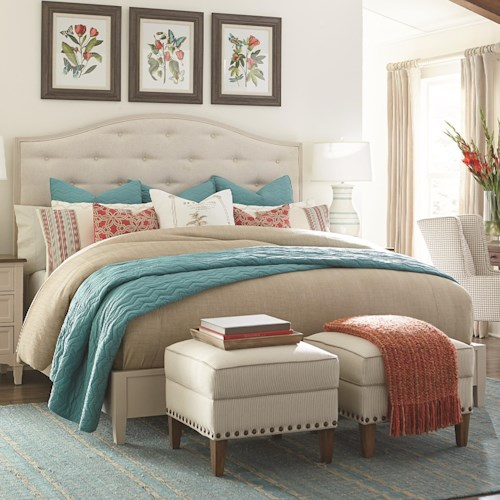 Bassett Commonwealth Complete California King Upholstered Bed