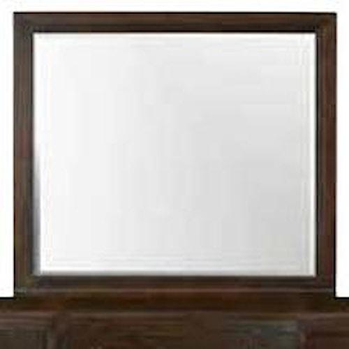 Bassett Cosmopolitan Transitional Landscape Mirror with Rectangular Wooden Frame