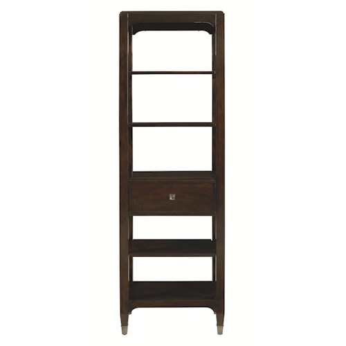 Bassett Cosmopolitan Transitional Pier Shelving Unit with One Drawer