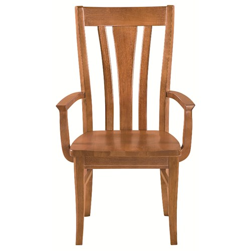 Bassett Custom Dining 4469 Arm Chair with Tapered Legs