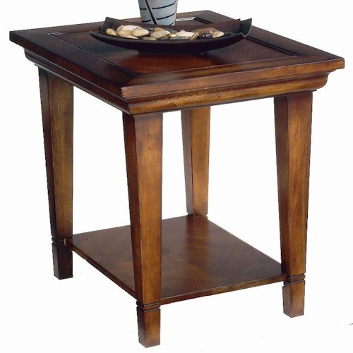 Bassett Easton Wood End Table with Shelf