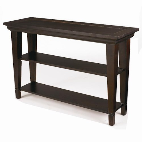 Bassett Easton Console Sofa Table with Two Shelves