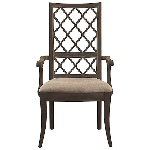 Bassett Emporium Open Fret Arm Chair