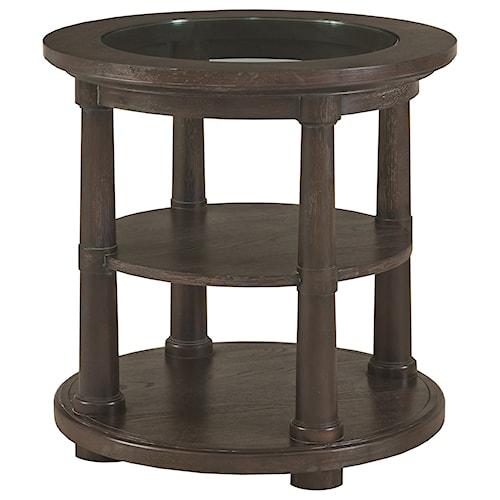 Bassett Emporium Round Lamp Table