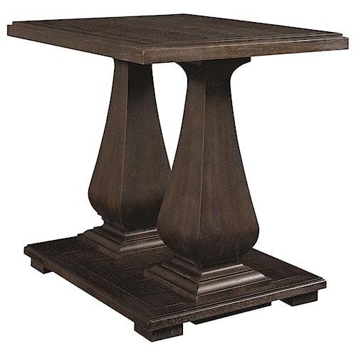 Bassett Emporium Pedastal End Table