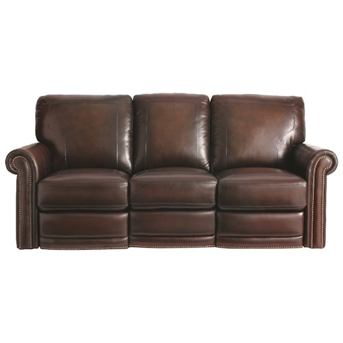 Bassett Hamilton 3958 Power Traditional Reclining Sofa