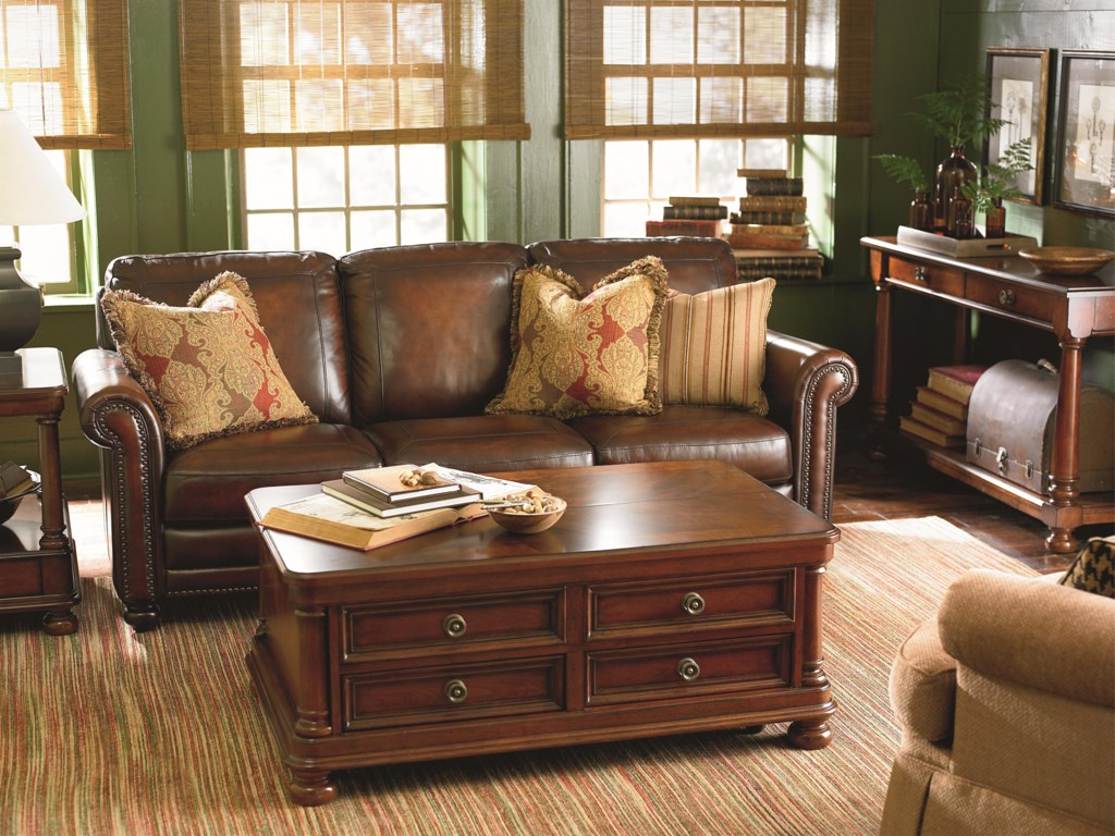 Traditional Living Room Furniture Stores Bassett Hamilton Traditional Sofa With Nail Head Trim Great