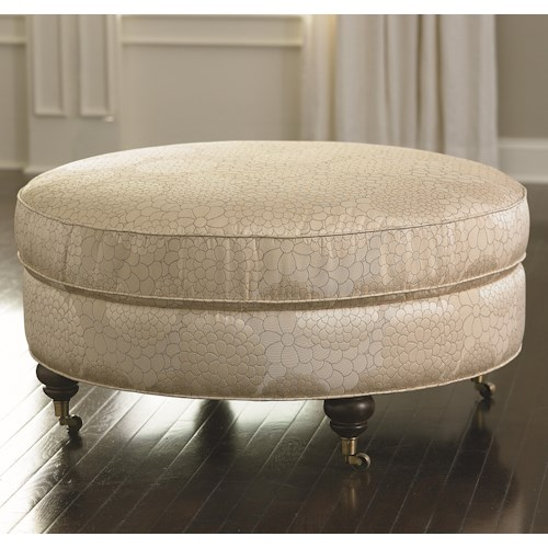 Bassett HGTV HOME Design Studio Round Ottoman with Classic Yet Casual Style