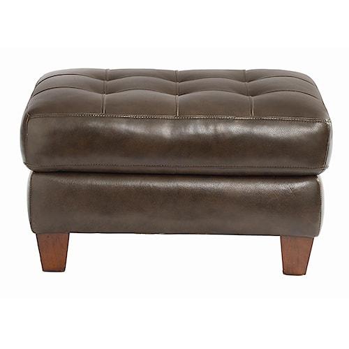 Bassett Mercer Leather Upholstered Ottoman