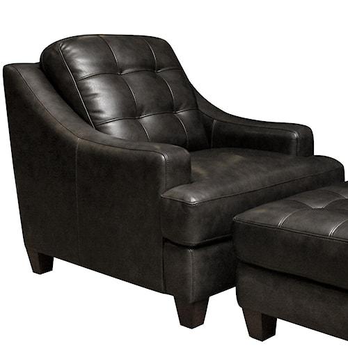 Bassett Mercer Leather Upholstered Chair