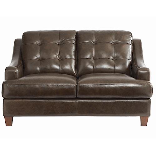 Bassett Mercer Leather Upholstered Love Seat