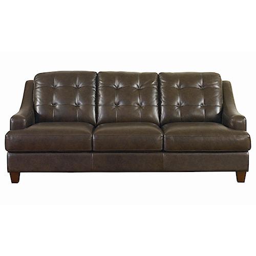 Bassett Mercer Leather Upholstered Sofa