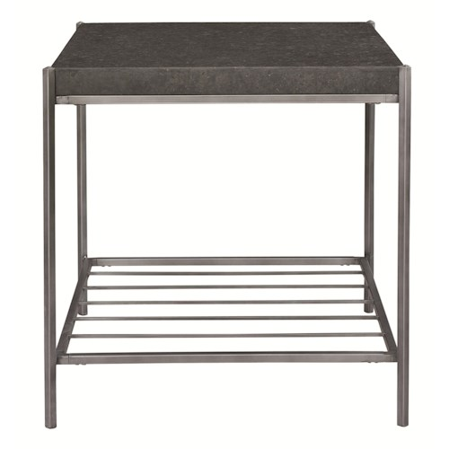 Bassett Metro End Table with Limestone Top