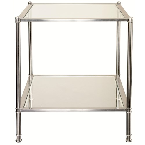 Bassett Metropolitan End Table with Glass Panels