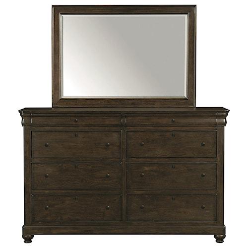 Bassett Provence Dresser and Mirror Set