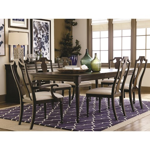 Bassett Provence Formal Dining Table and Chair Set