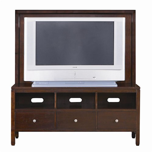 Bassett Redin Park Credenza TV Console with Back Panel