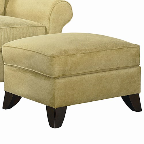 Bassett Tyson  Transitional Upholstered Ottoman