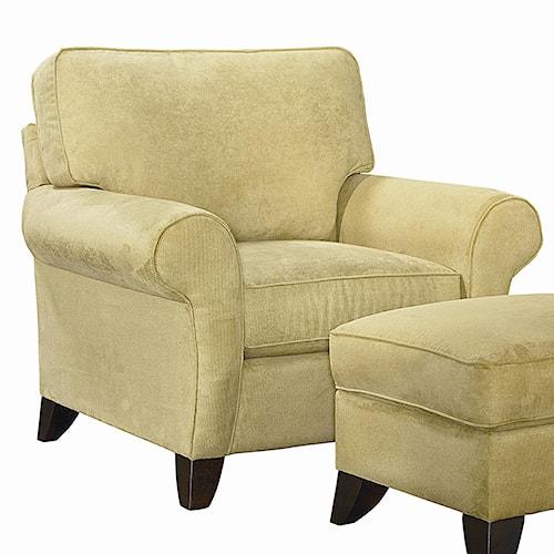 Bassett Tyson  Transitional Upholstered Chair