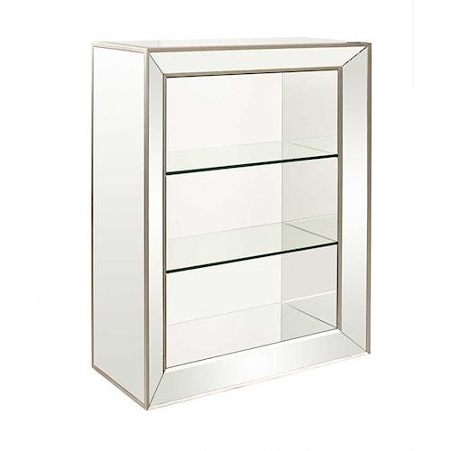 Bassett Mirror Hollywood Glam Minetta Bookcase Hudson 39 S