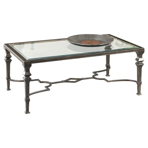 Bassett Mirror Lido Rectangular Cocktail Table