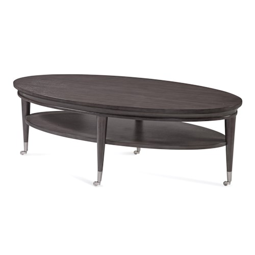 Bassett Mirror Thoroughly Modern Essex Oval Cocktail Table