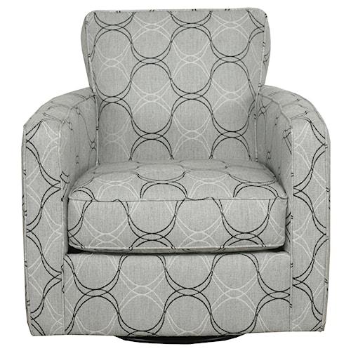 Bauhaus 55D Contemporary Track Arm Swivel Chair