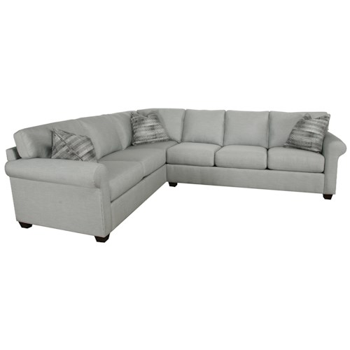 Metro Collection Spring Hill Transitional 2-Piece Sectional