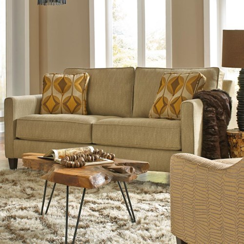Metro Collection Reston Apartment Sofa with Track Arms
