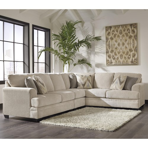 Benchcraft Ameer Contemporary 3-Piece Sectional