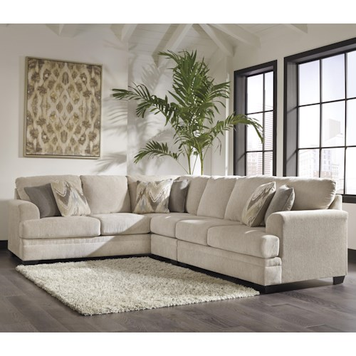 Ashley/Benchcraft Ameer Contemporary 3-Piece Sectional