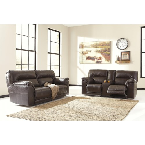 Ashley/Benchcraft Barrettsville DuraBlend® Reclining Living Room Group