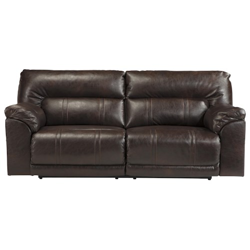 Ashley Barrettsville DuraBlend® Bonded Leather Match 2 Seat Reclining Power Sofa