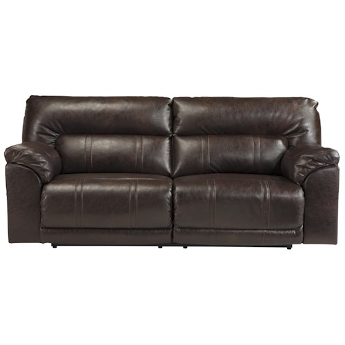 Benchcraft Barrettsville DuraBlend® Bonded Leather Match 2 Seat Reclining Sofa