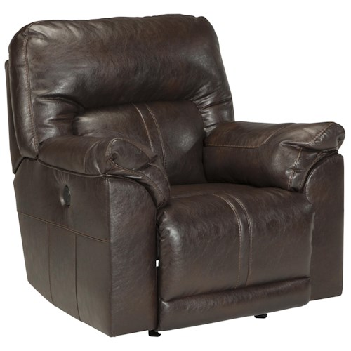Benchcraft Barrettsville DuraBlend® Bonded Leather Match Power Rocker Recliner