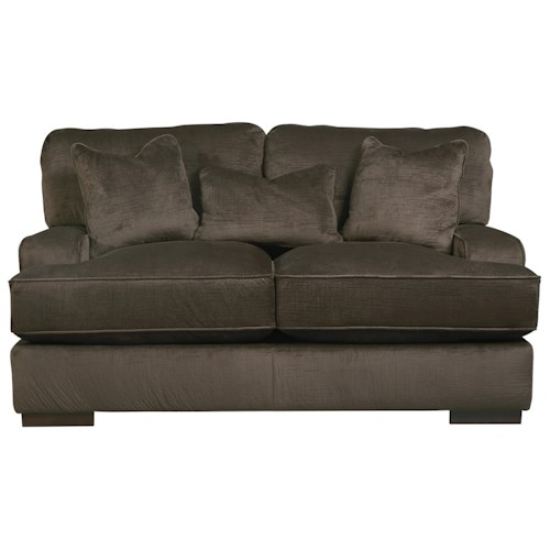 Benchcraft Bisenti Contemporary Loveseat with UltraPlush Cushions