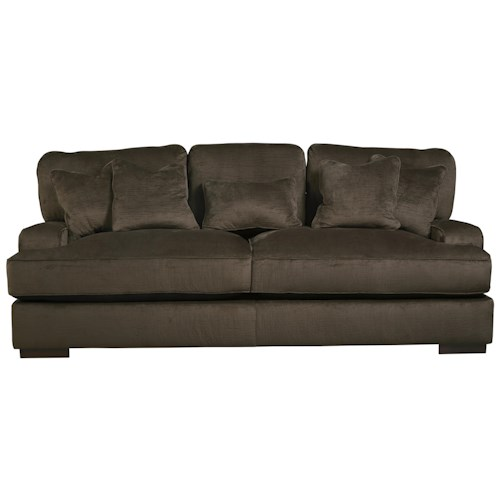 Ashley/Benchcraft Bisenti Contemporary Sofa with UltraPlush Cushions
