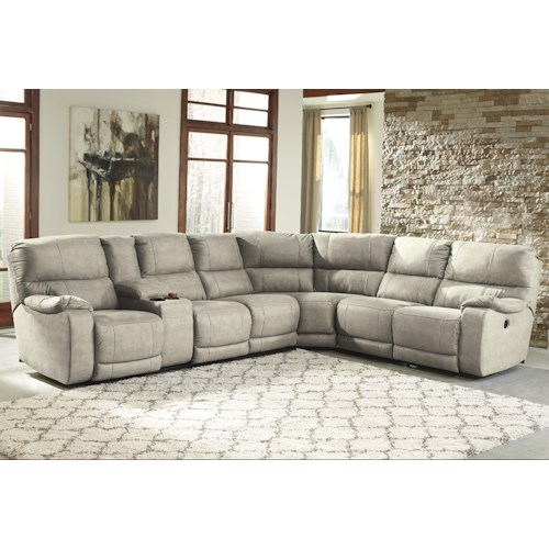 Benchcraft Bohannon Power Reclining Sectional with Console
