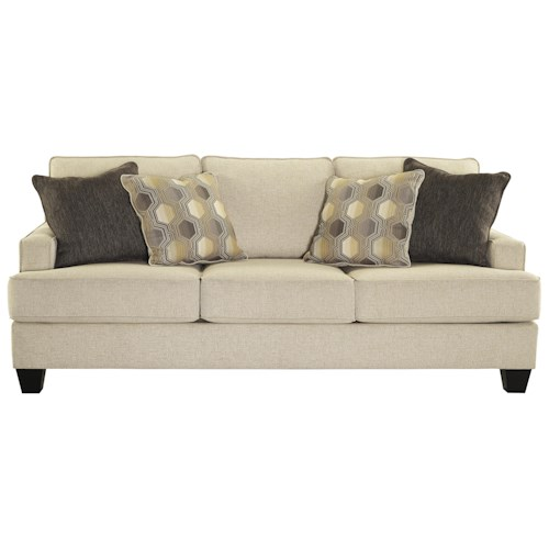 Ashley/Benchcraft Brielyn Sofa with Track Arms and T-Style Seat Cushions