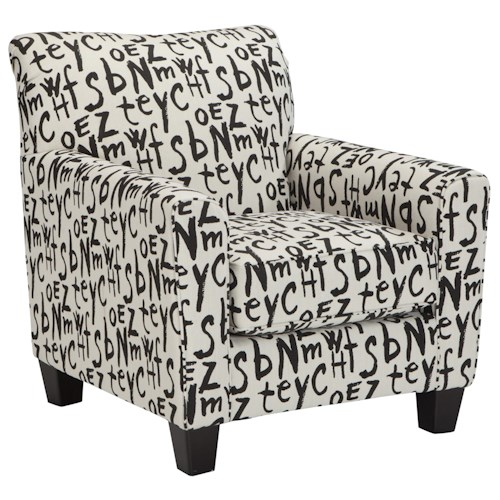 Ashley/Benchcraft Brindon Accent Chair with Graffiti-Style Text Fabric