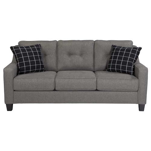 Ashley/Benchcraft Brindon Contemporary Queen Sofa Sleeper with Track Arms & Tufted Back