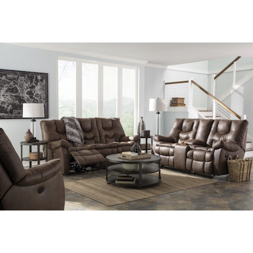 Ashley/Benchcraft Burgett Reclining Living Room Group