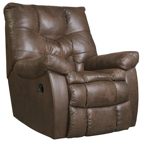 Benchcraft Burgett Faux Leather Rocker Recliner