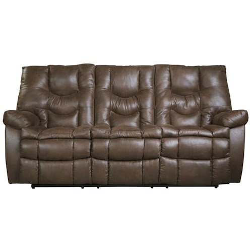 Benchcraft Burgett Faux Leather Reclining Sofa