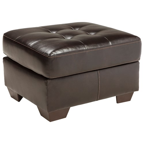 Benchcraft Coppell DuraBlend® Contemporary Ottoman with Tufted Top