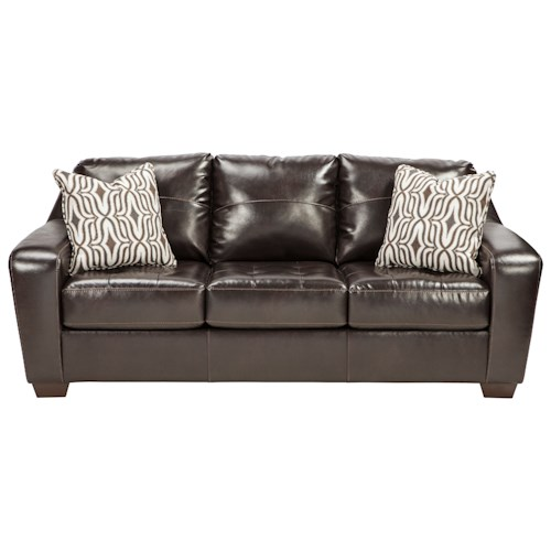 Benchcraft Coppell DuraBlend® Contemporary Sofa with Tufted Seat Cushions