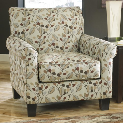 Benchcraft Danely Accent Chair in Leaf Print Fabric