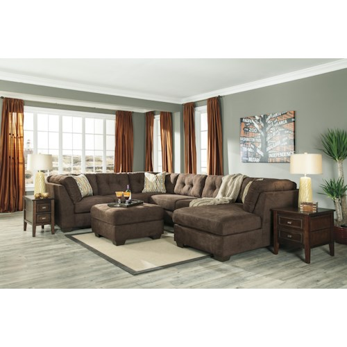 Benchcraft Delta City - Chocolate Stationary Living Room Group
