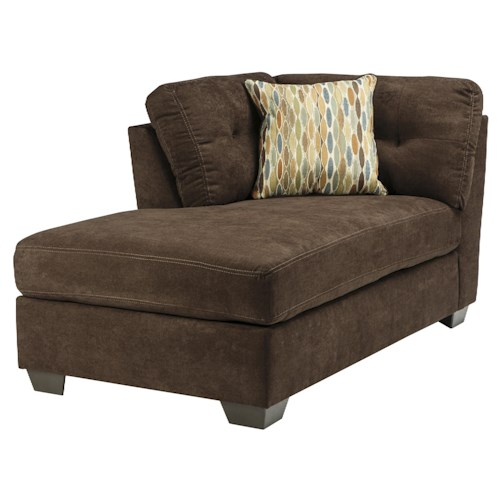 Benchcraft Delta City - Chocolate Contemporary LAF Corner Chaise