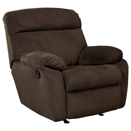 Benchcraft Demarion Casual Contemporary Rocker Recliner